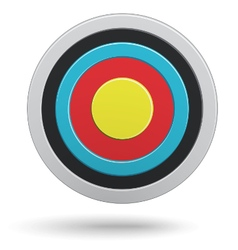 Round darts target aim with yellow center vector