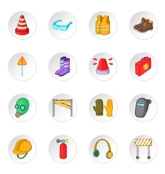 Safety work icons set vector