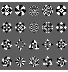 Set of abstract geometric elements and symbols vector