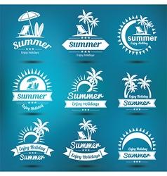Summer emblem 2 vector image vector image