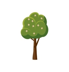 Tree with flowers icon cartoon style vector image