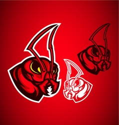 ant red logo vector image