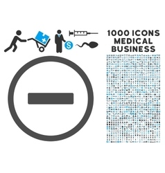 Remove icon with 1000 medical business pictograms vector