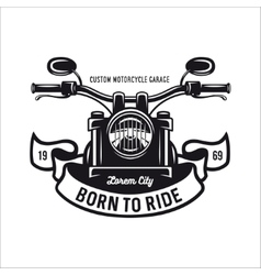 Vintage motorcycle t-shirt graphics vector