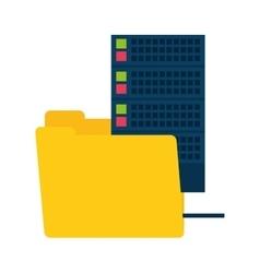Folder data media server technology vector