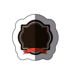 sticker colorful border heraldic decorative frame vector image
