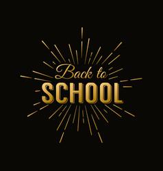 Back to school calligraphic label on chalkboard vector