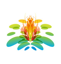 Multicolored fantasy flower vector