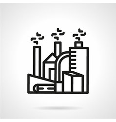 Chemical plant line icon vector