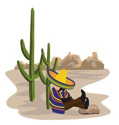 sleeping mexican vector image
