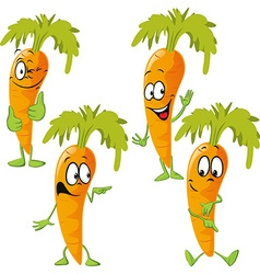Carrot - funny cartoon vector