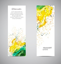 Banner set watercolor vector