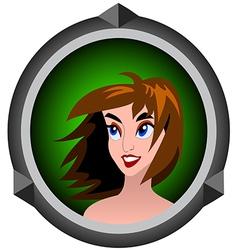 Icon girls vector
