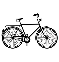 Vintage bike silhouette isolated bicycle vector