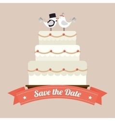 Wedding cute card vector