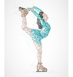 Abstraction skating athlete vector