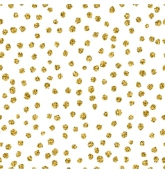 Trendy gold spot seamless pattern vector