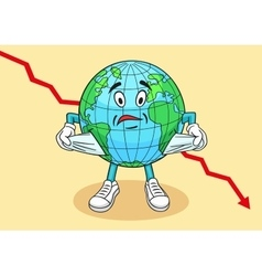 The caricature of the global financial crisis vector