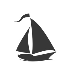 Sailboat icon transportation design vector