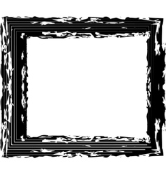 Abstract black grunge frame vector