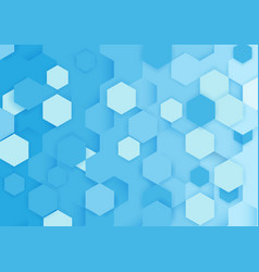 Abstract blue and white repeating hexagons vector