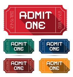 Admit One Tickets Set - vector image vector image
