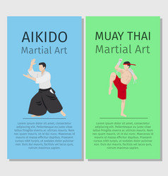 Asian martial arts vector