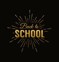 Back to school calligraphic label on chalkboard vector