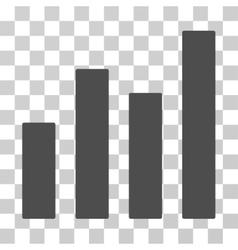 Bar graph icon vector