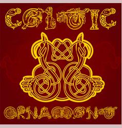 Celtic decorative ornament vector