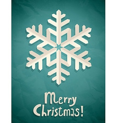 christmas postcard with snowflake vector image vector image