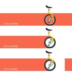 Circus Bike and Banner vector image