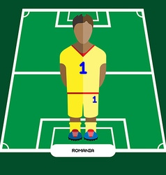 Computer game romania football club player vector