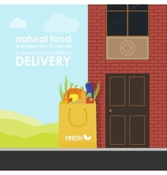 Delivery of natural products vector image