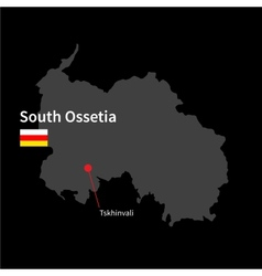 Detailed map of South Ossetia and capital city vector image vector image