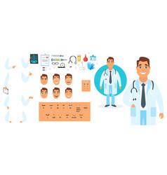 doctor character generator vector image vector image