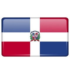 Flags Dominican Republic in the form of a magnet vector image
