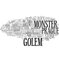 Golem word cloud concept vector