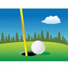 golf ball landscape vector image vector image