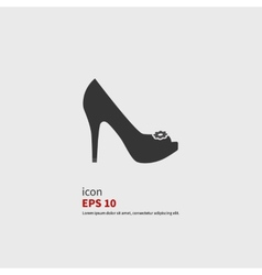 Icon shoes vector image vector image