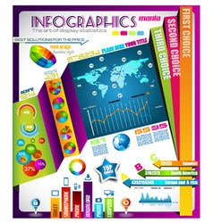 Infographic with a lot of design elements vector image