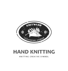 knitting logo template vector image