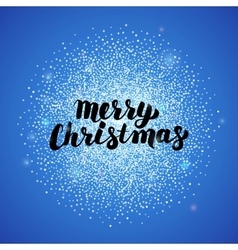 Merry Christmas Blue Greeting Card vector image vector image
