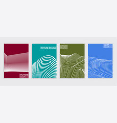 Minimal covers design cool halftone gradients vector