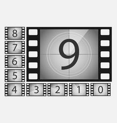 movie countdown numbers set vector image vector image