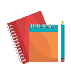 notebooks pencil isolated design vector image vector image