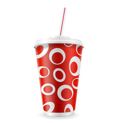 paper cup for soda stock vector image vector image