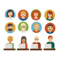 People avatars vector image