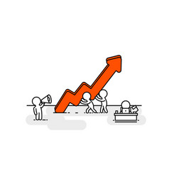 people red arrow up office people vector image