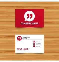 Quote sign icon Quotation mark symbol vector image vector image